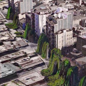 Norby - Glitch - houses throwing up trees
