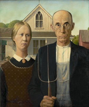 Grant Wood's painting American Gothic, has become the ultimate expression of the protestant work ethic.