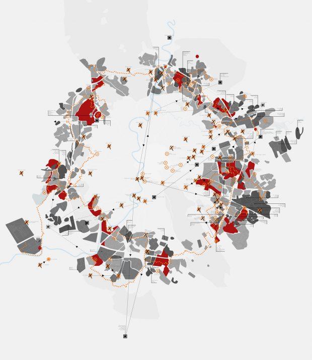 mappa 130x150 grigio scuro-ara