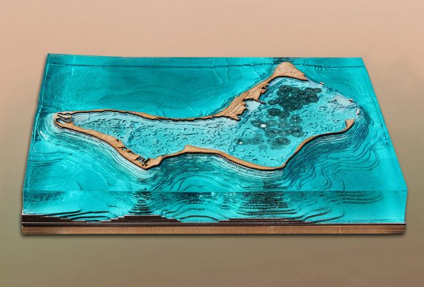 Author's physical model of the Island