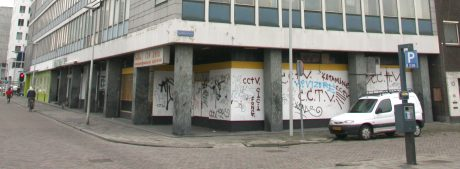 Archival image of the first location for de Dependance at the Schieblock in 2006, before the redevelopment. Image courtesy of ZUS.