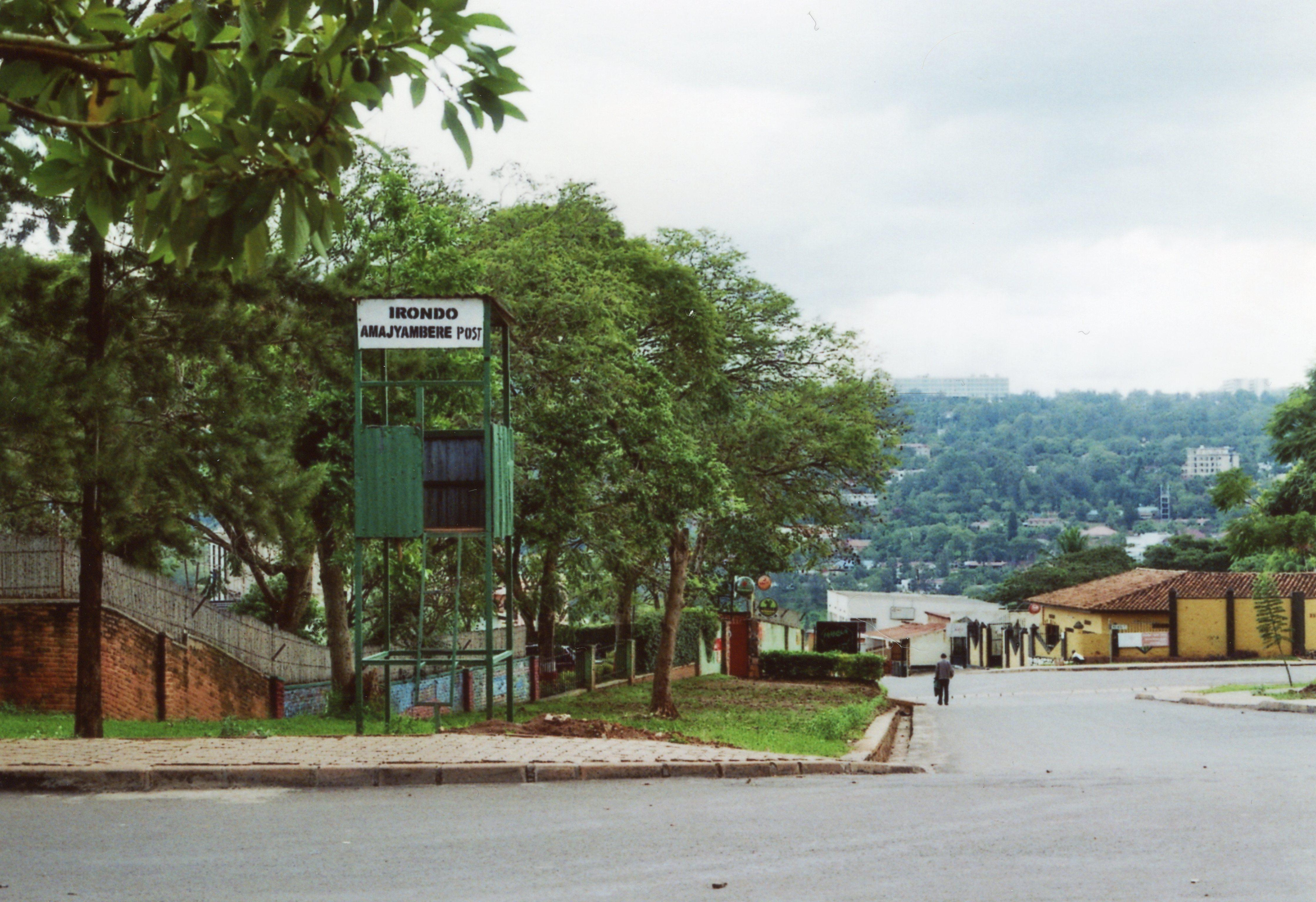 Military check point in the street, Kimihurura Neighborhood, Kigali, 2017.